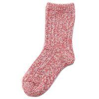 KEYUCA(ケユカ) N 絹と綿の2重編み靴下 ピンク