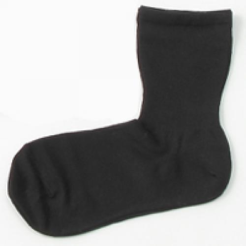 KEYUCA(ケユカ) d シッカリ 表糸綿 靴下 ソックス ブラック