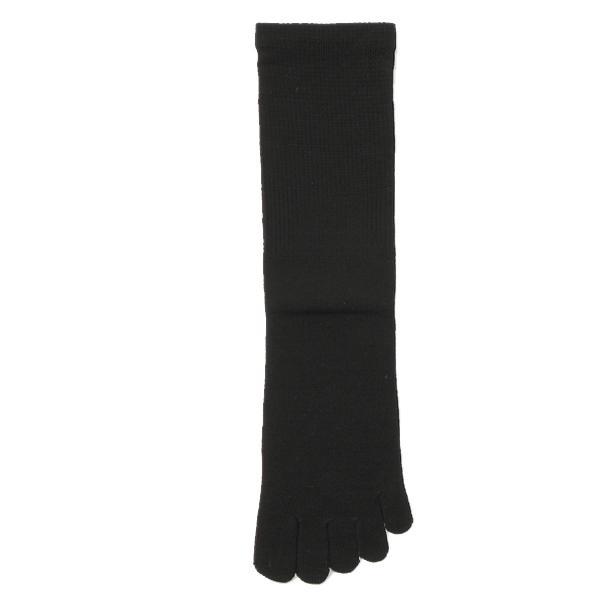 KEYUCA(ケユカ) d M 5 シッカリ 表糸綿 メンズ 靴下 ソックス 5本指 ブラック