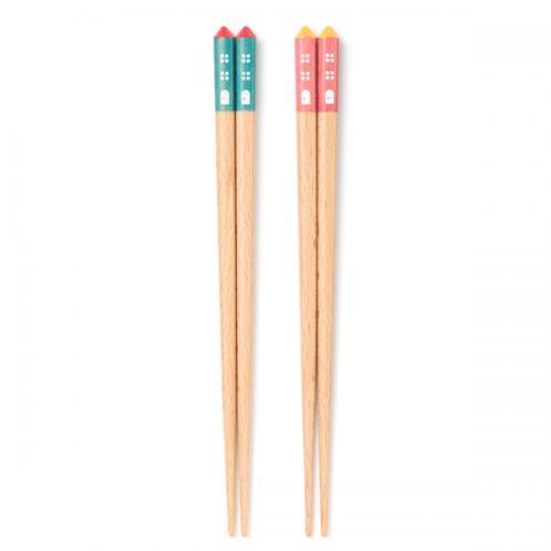 KEYUCA(ケユカ) おもちゃの家箸 子供用 ブルー