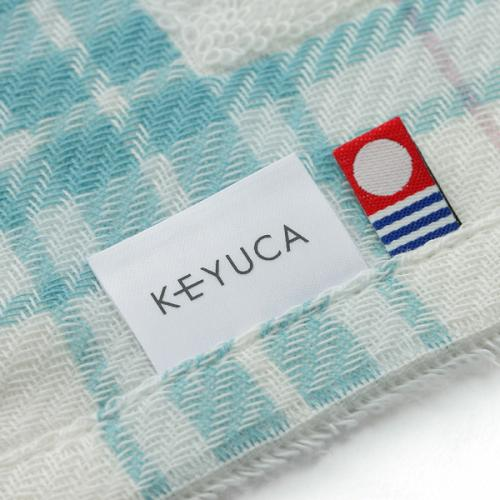KEYUCA(ケユカ) タータン ハンドタオル ブルー