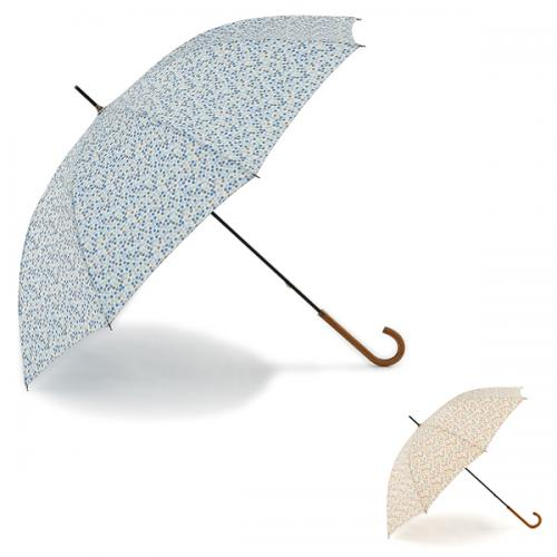 KEYUCA(ケユカ) 長傘 晴雨兼用ランダムドット ピンク