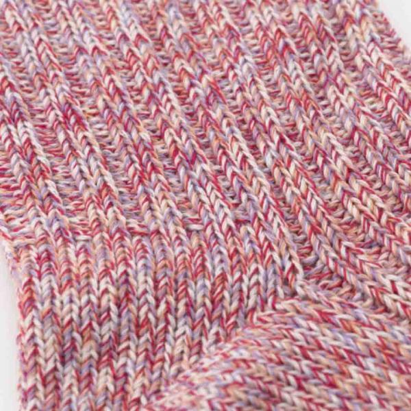 KEYUCA(ケユカ) N 絹と綿の2重編み靴下 ライトグリーン