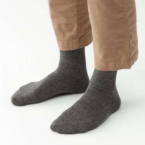 KEYUCA(ケユカ) d M シッカリ 表糸綿 靴下 ソックス ブラック