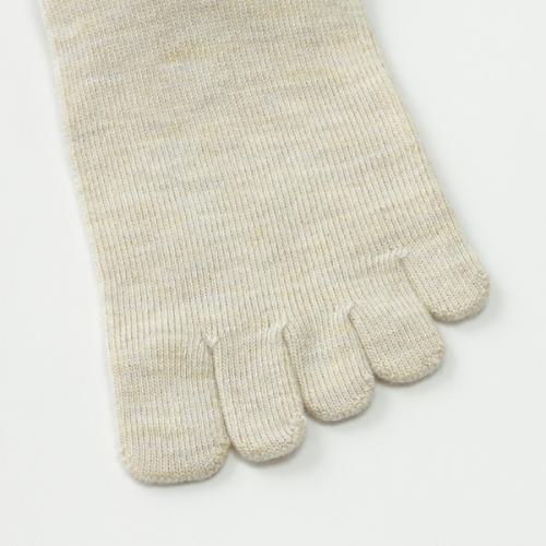 KEYUCA(ケユカ) d 5 ヤサシイ モダール混 靴下 ソックス 5本指 アイボリー