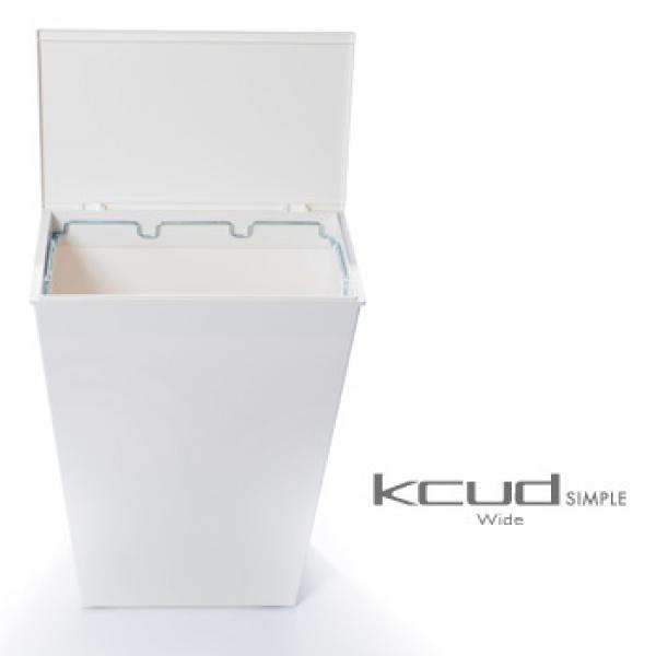 I'mD Kcud クード シンプル Slimホワイト | アイムディー ゴミ箱 ダストボックス