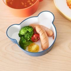 tak キッズディッシュ ボウル ベア S ネイビー | 日本製 離乳食 食器 子供用 電子レンジ 食洗機OK