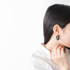【パーツのみ】acrylic 2145 GUM earring parts Honey comb