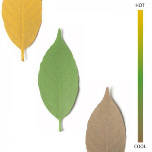 +d リーフ Lサイズ(5枚入)サーモメータ―   アッシュコンセプト