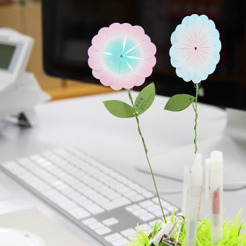 +d 花付箋 ブルー | 付箋 花 アッシュコンセプト