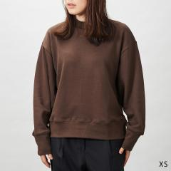 【KONCENT限定】モックネックスウェット19 ブラウン XS KONCENT×久米繊維工業 | Mock Neck Swea