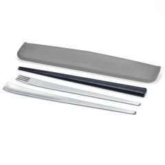 tak SLIM CUTLERY SET ブラック   スリムカトラリーセット 箸 フォーク スプーン お弁当 ランチボックス
