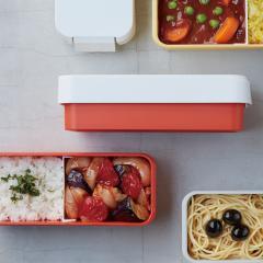 tak タイトフィット ランチボックス オレンジ    タック お弁当箱 カラフル ワンロック 汁 食洗機 電子レンジ LUNCH BOX