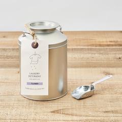 とみおかクリーニング 洗濯粉洗剤 フラワー  | ミルク缶入り(計量スプーン付き)
