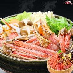 \12/1より5,400円/ 【送料無料】【生食OK】カット生ずわい蟹(定番レギュラーパック/白箱)内容量750g 約3人前