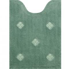 【ヨシエイナバ】 シャイネン ロングトイレマット 約80×60cm グリーン