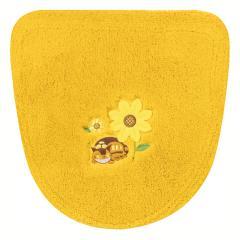 となりのトトロ 花のバス停 洗浄フタカバー イエロー 洗える かわいい キャラクター ジブリ