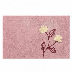 【シビラ】 フローレス バスマット 約45×70cm ピンク