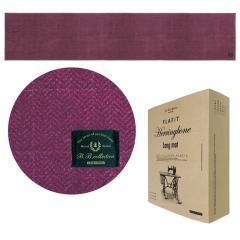 B.Bヘリンボン キッチンマット 約50×240cm ワイン