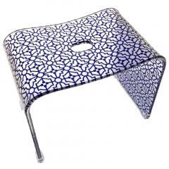 ティエナ バスチェア 風呂椅子 Lサイズ ネイビーブルー