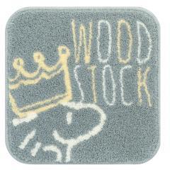 <LOHACO> スヌーピー クラウンウッドストック マルチマット 約38×38cm グレー