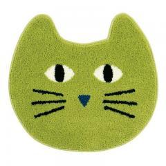 【ホコモモラ】ガト アクセントマット 約55×60cm グリーン 【5%OFFクーポン利用可能】【コード:CP34TSW】