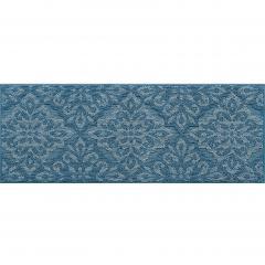 モノプリズム キッチンマット 約45×120cm ブルー