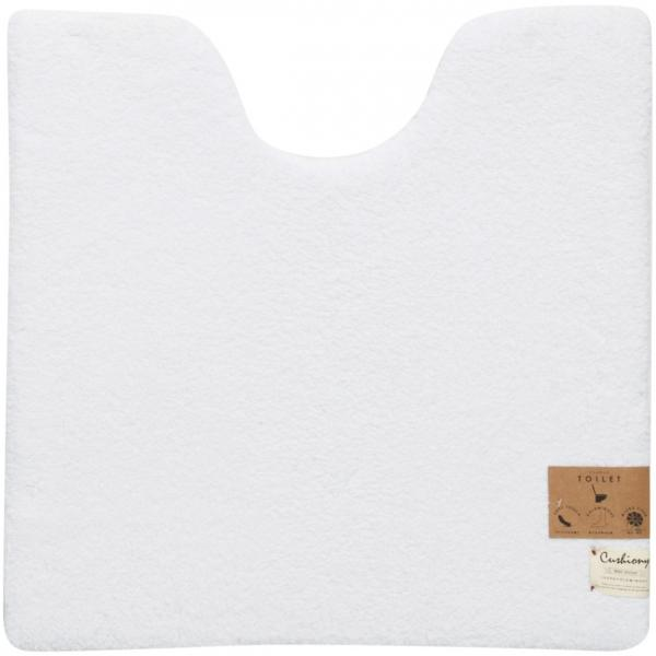10%OFFクーポン対象商品 B.Bクッショニー 大判トイレマット 約70×70cm ホワイト クーポンコード:KZUZN2T