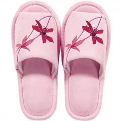 【ハナエモリ】 ウィンターオーキッド スリッパ フリーサイズ ピンク