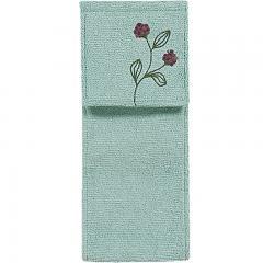 5%OFFクーポン対象商品 【シビラ】 フローレス ペーパーホルダーカバー ブルー 洗える 花 モチーフ ブランド 一本支柱 刺繍 おしゃれ クーポンコード:V6DZHN5