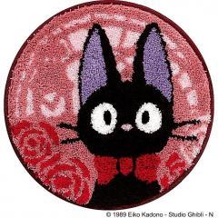<LOHACO> 魔女の宅急便 とけいとう チェアマット 直径約38cm ピンク
