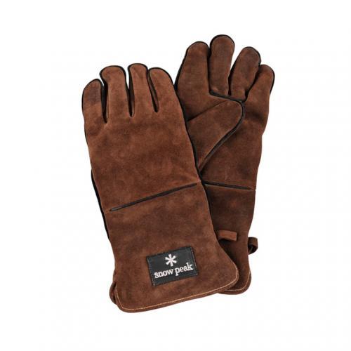 スノーピーク(snow peak) ファイヤーサイドグローブ ブラウン UG-023BR キャンプ用品 手袋(Men's、Lady's)