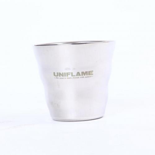 ユニフレーム(UNIFLAME) ウェーブダブルマグSUS 666135 キャンプ バーベキュー マグカップ(Men's、Lady's)