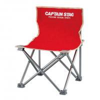 キャプテンスタッグ(CAPTAIN STAG) パレット コンパクトチェア ミニ M-3919 レッド 折りたたみ椅子 キャンプ(Men's、Lady's)