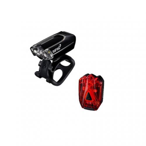 トピーク(TOPEAK) インフィニ INFINI INF 107 USB F/R SET BK/BK ランプ サイクルライト 自転車 パーツ LPF10700 ブラック  (Men's、Lady's)