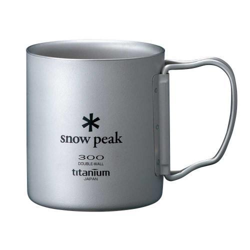 スノーピーク(snow peak) チタンダブルマグ 300 フォールディングハンドル Titanium Double Wall Cup 300 Folding MG-052FHR  (Men's、Lady's)