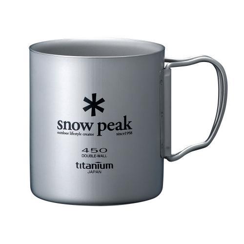 スノーピーク(snow peak) チタンダブルマグ 450 MG-053R キャンプ バーベキュー マグカップ(Men's、Lady's)