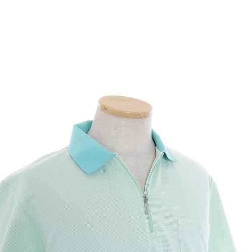 ミズノ(MIZUNO) IT ドットボーダー半袖 ポロシャツ 73YF53634-34(Men's)