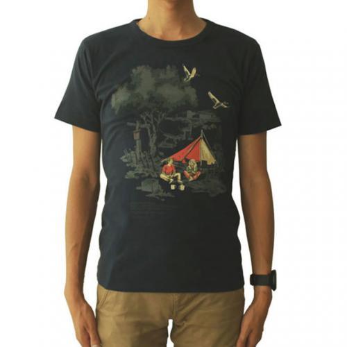 スノーピーク(snow peak) キャンプフィールドプリントTシャツ ネイビー Camp Field Printed T-shirt TS-15AU403-NV ユニセックス 半袖Tシャツ(Men's、Lady's)