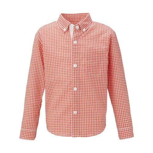 ノースフェイス(THE NORTH FACE) ロングスリーブ ワッシャーギンガムシャツ キッズ L/S Washer Gingham Shirt NRJ11503 P 長袖シャツ(Jr)