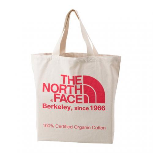 ノースフェイス(THE NORTH FACE) TNFオーガニックコットントート TNF ORGANIC COTTON TOTE NM81616 CP ナチュラル×コーラルピンク トートバッグ(Men's、Lady's)