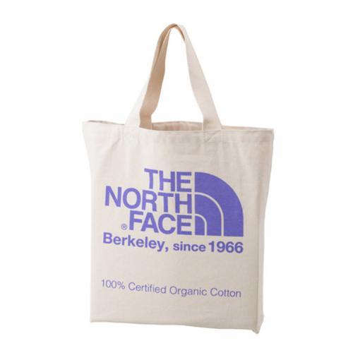 ノースフェイス(THE NORTH FACE) TNFオーガニックコットントート TNF ORGANIC COTTON TOTE NM81616 LP ナチュラル×ラベンデュラパープル トートバッグ(Men's、Lady's)