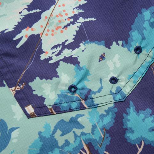 スノーピーク(snow peak) ウィンドレジスタントショーツ ネイビープリント Wind Resistant Shorts PA-16SU103-NVY メンズ ショートパンツ(Men's)