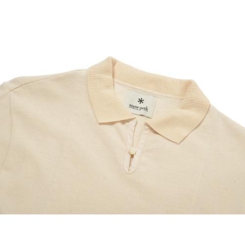 スノーピーク(snow peak) オーガニックポロシャツ ナチュラル Organic Polo Shirt SW-16SU306-NT メンズ 半袖シャツ(Men's)