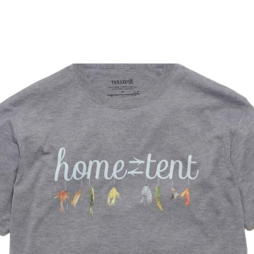 スノーピーク(snow peak) ホームテントロゴティーシャツ フィッシングバージョン グレー TS-16SU101-GY メンズ 半袖Tシャツ(Men's)