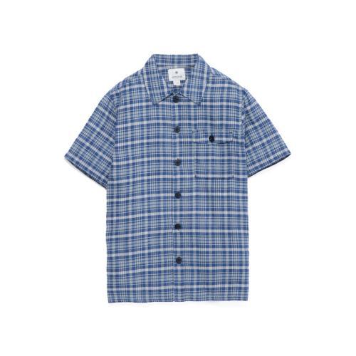 スノーピーク(snow peak) スペック染めチェックシャツ Spec Dyed Check Shirt ブルーチェック TS-16SU303-BLUC メンズ 半袖シャツ  (Men's)