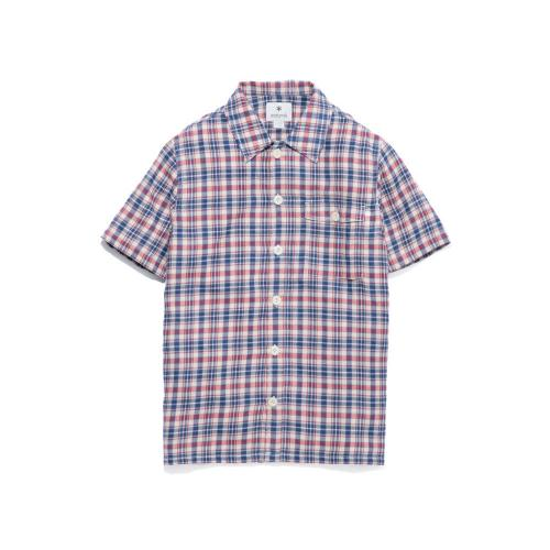 スノーピーク(snow peak) スペック染めチェックシャツ Spec Dyed Check Shirt エクリュチェック TS-16SU303-ECRU メンズ 半袖シャツ  (Men's)