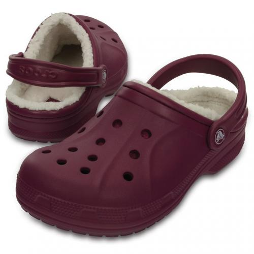 クロックス(crocs) ウィンタークロッグ Winter Clog Plum/Oat 203766 51B サンダル(Lady's)