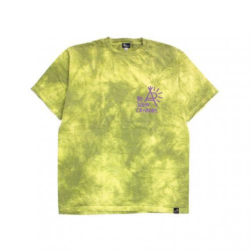 ゴースローキャラバン(GOSLOWCARAVAN) ムラ染め 半袖Tシャツ 345702-YEL(Men's)