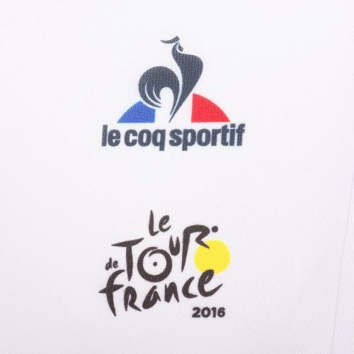 ルコック スポルティフ(Lecoq Sportif) ツールドフランス レプリカ半袖ジャージ メンズ 男性用 半袖ジャージ 自転車ウエア QC-7405TDF WHT ホワイト(Men's)